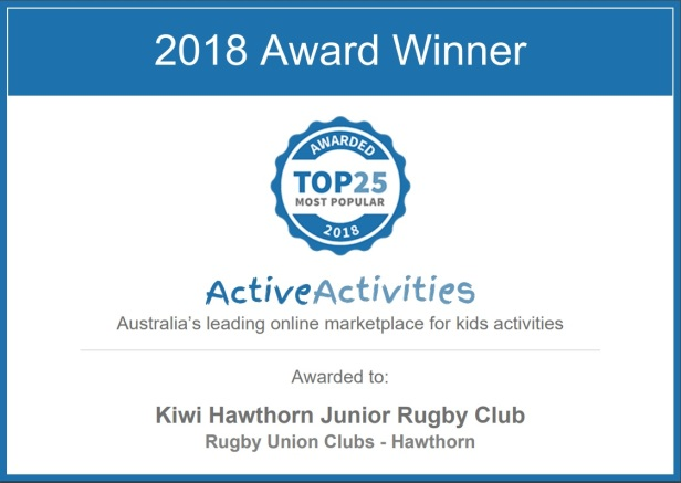 2018 ActiveActivities award